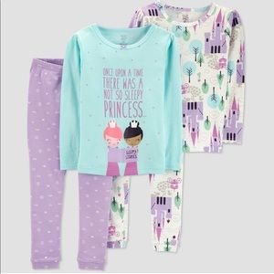 Carter's 4-Piece Princess Girls Pajama Set